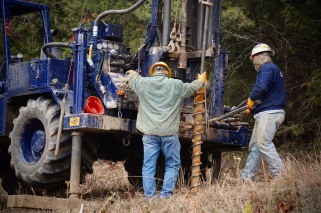 Geotechnical drilling for soil engineer