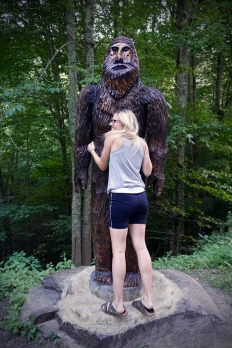 Hugging Sasquatch in the Cataloochee Valley