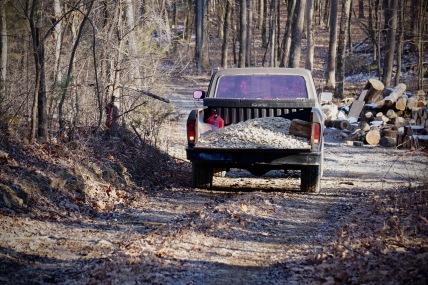 F150 hauling gravel