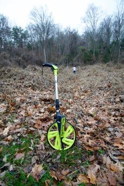 utility company measuring wheel