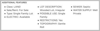 standard land listing