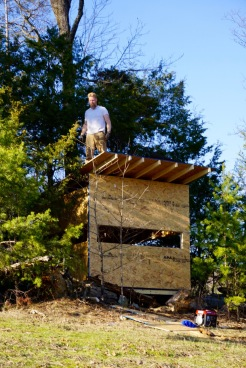 hunting blind before windows and siding
