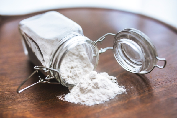 stock photo of a jar with baking soda