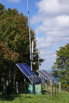 solar setup on a hillside