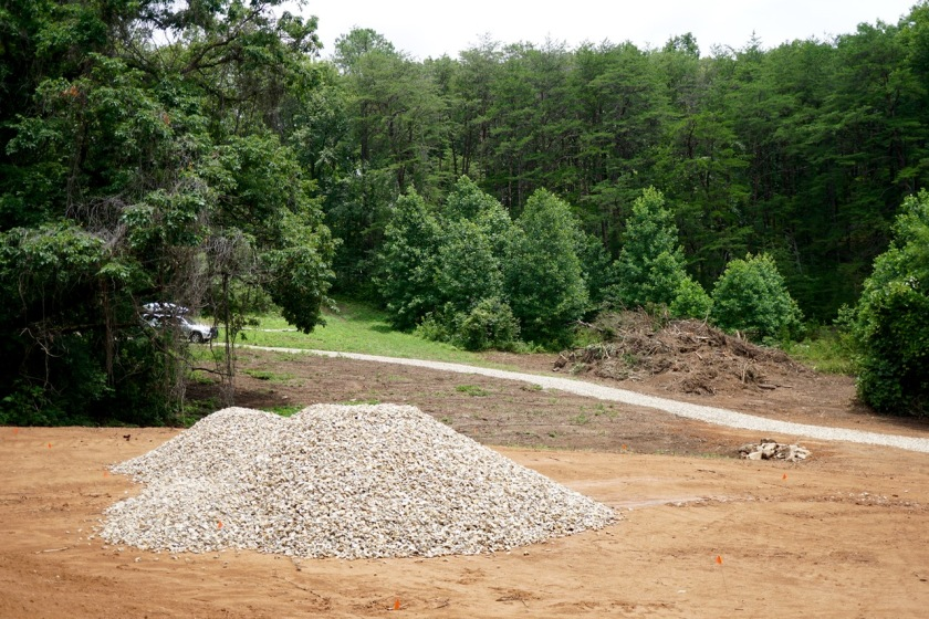 professionally excavated barn pad