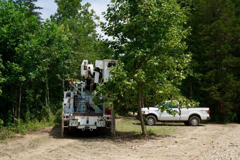 power company trucks