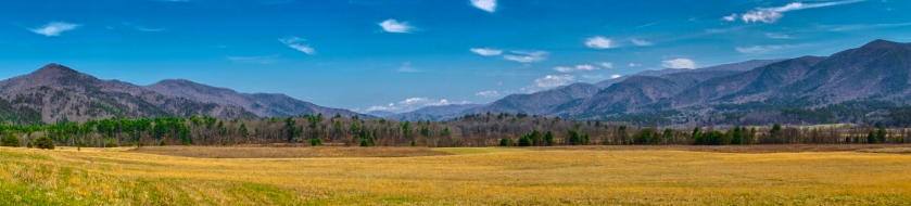 pano of Cades Cove Great Smoky Mountains