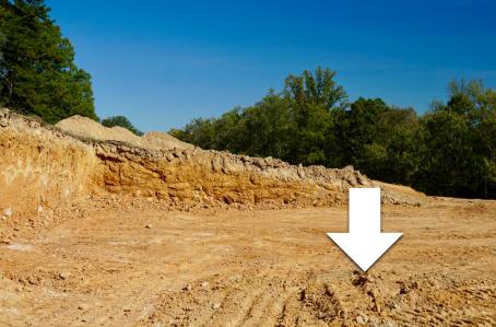 excavated homesite
