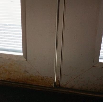 crooked door with gap