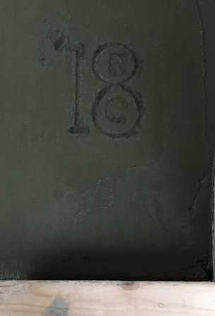 signature in concrete
