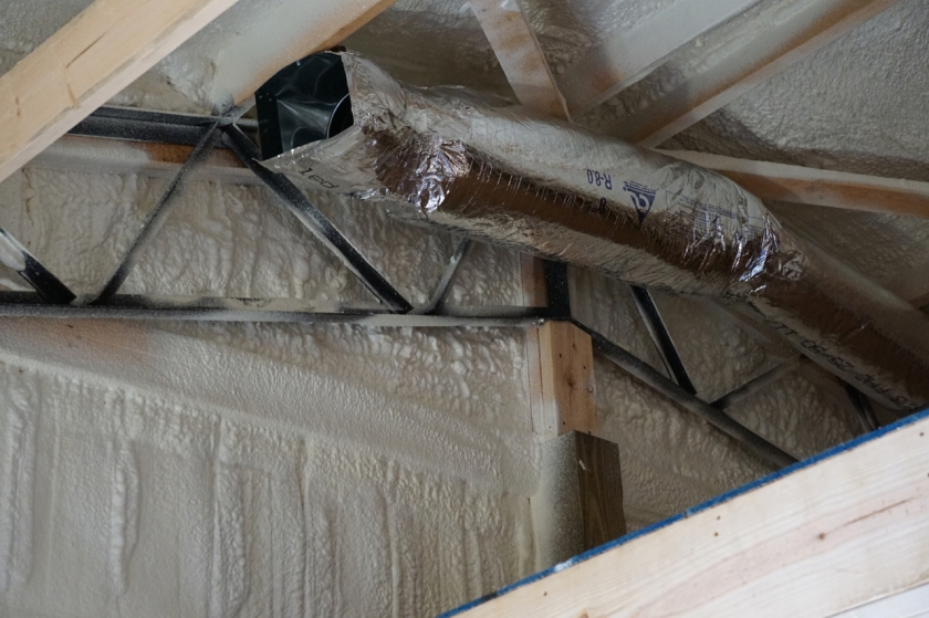 ductwork with spray foam insulation
