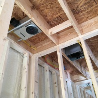 bathroom fans roughed in