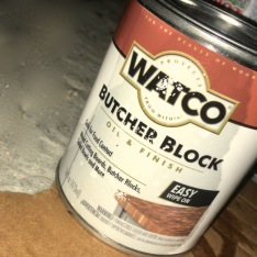 can of butcher block finishing oil