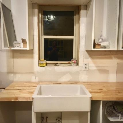 new IKEA HAVSEN apron sink installation