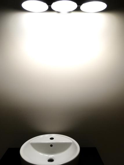 bathroom vanity lighting fixture off center