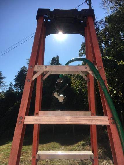hose on a ladder